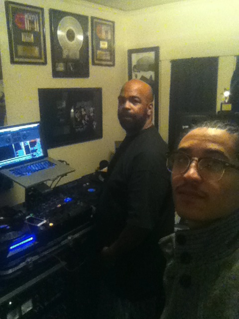 Show Luciano in the studio with DJ Battlecat